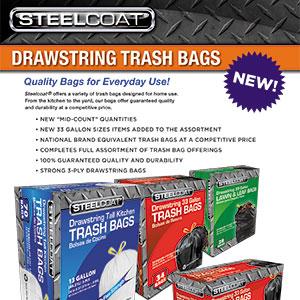 New Drawstring Trash Bags